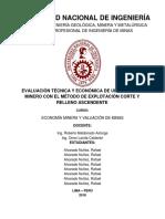 Monografía - Economía Minera y Valuación de Minas 2018-2