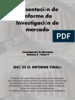 Presentación de Informe de Investigación de Mercado