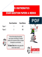 SH Gr 8 Maths Papers 1 2 Plus Memos 14 Oct 2015
