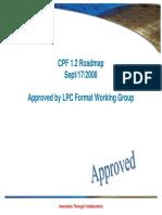 CPF FormatWG Roadmap CPF1.2