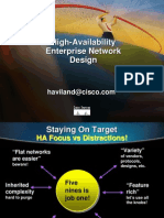 Cisco Hight Availability Enterprise Network Design