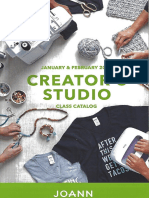 Joann Creator's Studio Class Catalog - Jan/Feb 2019 - Iowa City Course Calendar