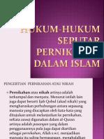Hukum-hukum Seputar Pernikahan Dalam Islam