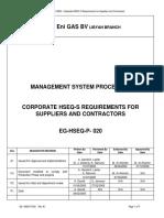 EG-HSEQ-P-020 Rev A1 Corporate HSEQ-S Req for Suppliers&Co…
