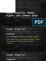 Human Dignity Human Rights and Common Good