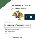 Bombas de Pistón de Doble Efecto
