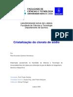 Optimização Da Unidade de Cristalização Do Clorato de Sódio
