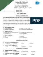 Sample Paper OGDCL NTHP 2018 April 2 2018 2