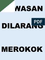 DILARANG MEROKOK