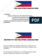 History of the Philippine Agriculture