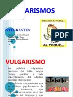 vulgarismo