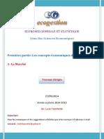 Partie I 1 Le Marché Travaux Dirigés 2014 2015