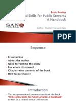 Book Review 10 Essential Skills for Public Servants a Handbook by Shahid Hussain Raja