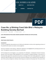 Case No. 9 Shining Crest Sdn Bhd v Malaysia Building Society Berhad – HSK
