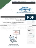 Telecom Engineer Blogspot in 2013 10 Cdma Umts Rf Interview 5