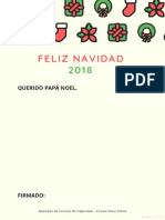 Carta Papá Noel - Modelo 6