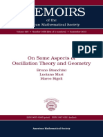 On Some Aspects of Oscillation Theory and Geometry
