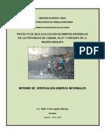 Informe Geolocalización de Pequeños Mineros en Proceso de Formalización de la Zona Minera de Secocha.