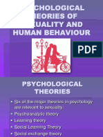 Psychological Theories of Sexuality and Human Behaviour