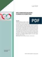 Texto de Luiz Mott Sobre Origem Da Homofobia