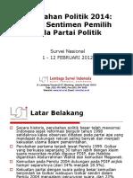 Perubahan Politik 2014_Release @LSI_Lembaga