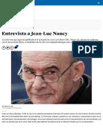 Entrevista a Jean-Luc Nancy