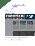 CSS Para Personalizar La Plantilla Protostar de Joomla