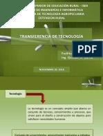 EXTENSION RURAL - TRANSFERENCIA DE TECNOLOGIA