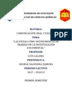 Las Fichas Cómo Instrumentos de Trabajo en La Investigación Documental