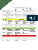 Secondary School Strategic Planning - Workshop Programme