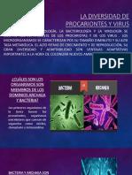 La Diversidad de Procariontes y Virus