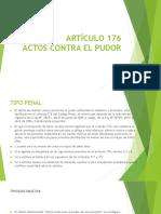 Artículo 176 Pudor