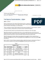 Unit Injector Synchronization - Adjust