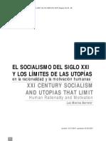 Luz Marina Barreto_El Socialismo Del Siglo XXI Y Los Limites de Las Utopias en La Racionalidad