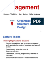 FOM Ch 9 Org Structure and Design