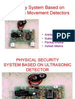 Security System Based on Ultrasonic Movement Detectors 1