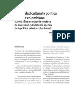 Divercidad Cultural y Politica Exterior Colombiana