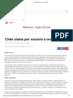 Chile Clama Por Socorro e Oração