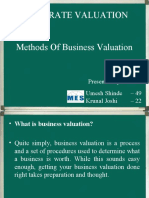 Methods of Business Valuation