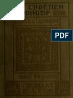 MARCEL Laurent - L'Art Chretien Primitif TOME 1 (1911)