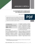 Artículo La Prescripción de La Acción Penal y La Relevancia Constitucional