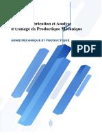 Etude de Fabrication Et Analyse DUsinage