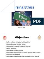 Nursing Ethics 2018