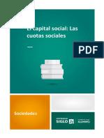El Capital Social. Las Cuotas Sociales