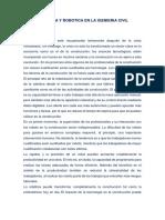 Domótica y Robótica en La Ingeniería Civil