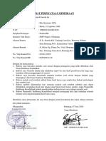 Surat Pernyataan Keses