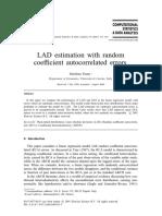 LAD Estimation With Random Coefficient Autocorrelated Errors