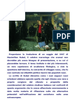 Rubel, Karl Marx e Il Socialismo Populist A, 1947
