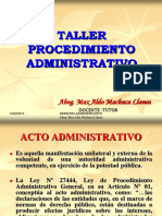 Taller de Procedimiento Administrativo