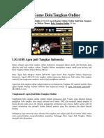 Situs Game BolaTangkas Online